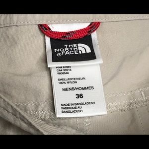 North Face Men's Outdoor Hiking Trail Pants Beige